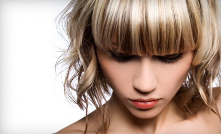 Men's Haircut or Women's Haircut with Options for Full or Partial Highlights at enVus Salon & Day Spa (Up to 61% Off)