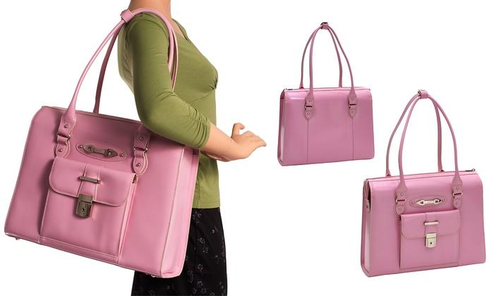 Pink McKlein 96639 W Series Oak Grove Laptop Carrying Case