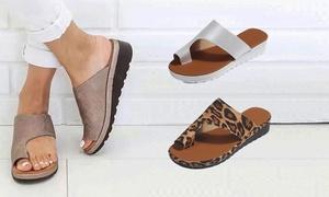 Sandales plates ouvertes
