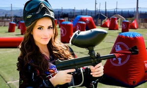 Paintball International: All-Day Paintball Package for 4, 6, or 12 from Paintball International (Up to 91% Off)