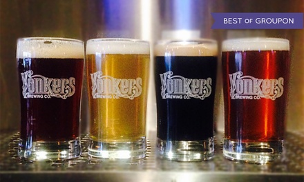 Brewery Tour Package for Two or Four with Beer Flights and Appetizers at Yonkers Brewing Co. (Up to 45% Off)