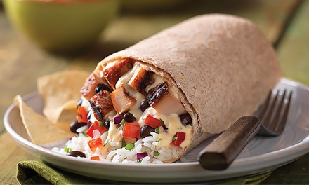 $18 for Two Groupons, Each Good for a Mexican Meal at Qdoba Mexican Grill ($28.38 Total Value)