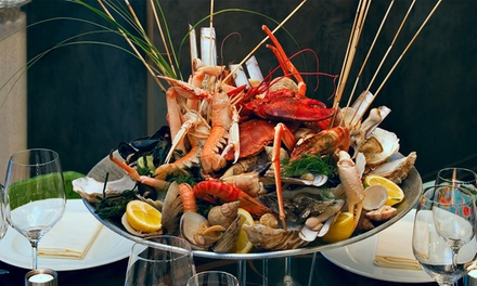 Plateau Fruits de Mer Royal ou Crustacés dès €39,50 chez Brasserie Docks à Anvers Brasserie Docks