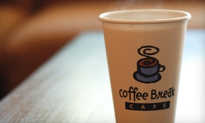 Coffee Break Cafe - Multiple Locations: $15 for 10 Drinks at Coffee Break Cafe (Up to $58.90 Value)
