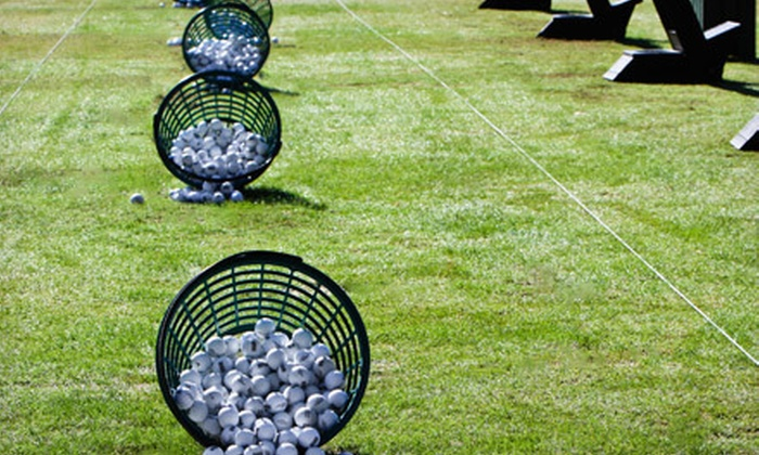 River Oaks Golf Course - River Oaks Estates: $18 for Four Large Buckets of Driving-Range Balls at River Oaks Golf Course in West Jordan ($36 Value)