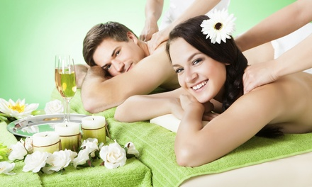 Massages with Glass of Champagne & Grapeseed Foot Treatment at SB Sparkling Spa (Up to 69% Off). 3 Options.