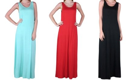 groupon daily deal - Free to Live Tank Maxi Dress. Multiple Colors Available. Free Returns.