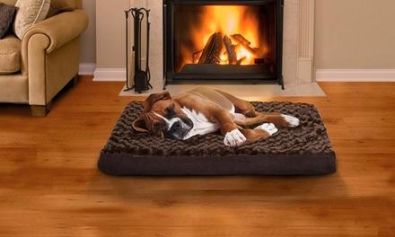 Memory Foam or Orthopedic Pet Bed in Ultra-Plush or Faux-Fur