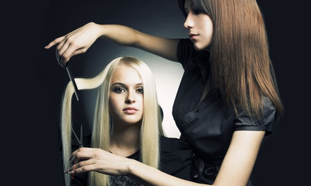 Haircut and Conditioning with Optional Full Color or Partial or Full Highlights at Hair by Ashley (Up to 65% Off)