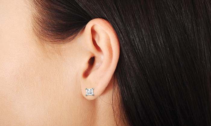 diamond carat with stud halo earrings
