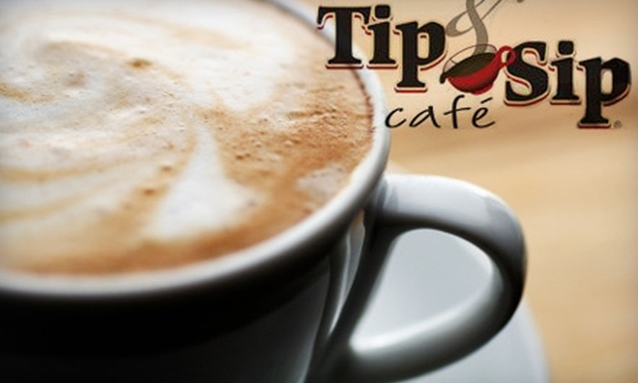 Tip and Sip Café - Multiple Locations: $5 for $10 Worth of Comfort Food and Drinks at Tip and Sip Café