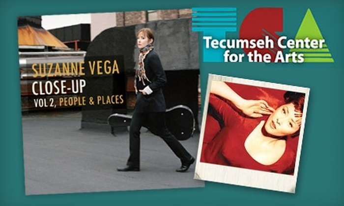 Suzanne Vega at Tecumseh Center for the Arts - Tecumseh: $14 for One Ticket to Suzanne Vega at Tecumseh Center for the Arts (Up to $28 Value)