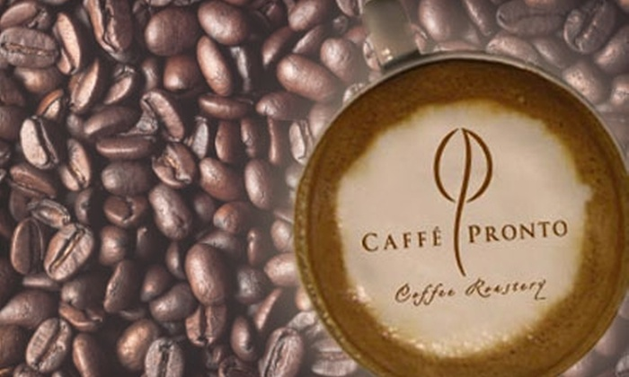 Caffé Pronto - Multiple Locations: $5 for $10 Worth of Coffee, Pastries and More (or $15 for $30 Towards Online Orders) at Caffé Pronto