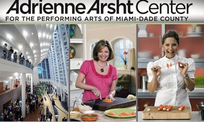 Adrienne Arsht Center for the Performing Arts - Miami: $22 2nd Tier Box and 2nd Tier Main Tickets to Celebrity Chef Series at Adrienne Arsht Center. See Below for Additional Seating and Prices.