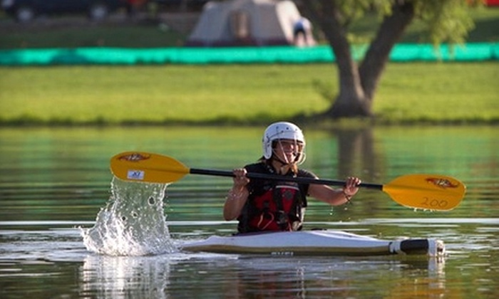 The Vineyards Campground & Cabins - Grapevine: Kayak Rental at The Vineyards Campground & Cabins in Grapevine. Choose Between Two Options.
