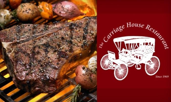 The Carriage House Restaurant - Winston-Salem: $8 for $20 Worth of Eclectic Fare at The Carriage House Restaurant