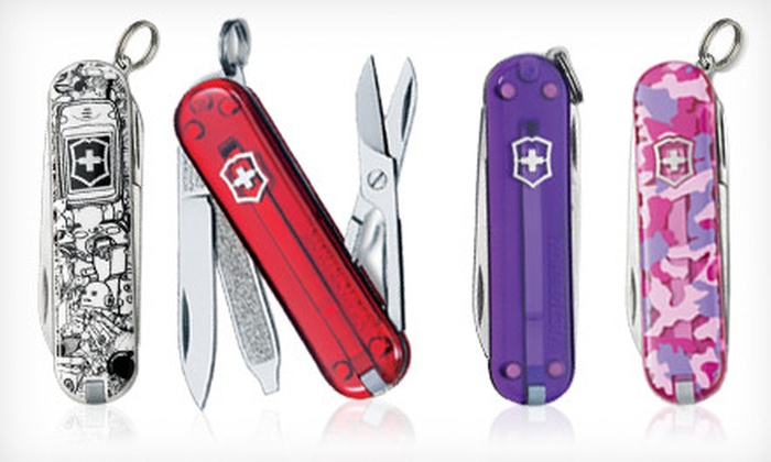 Up To 43 Off Set Of Swiss Army Knives Groupon