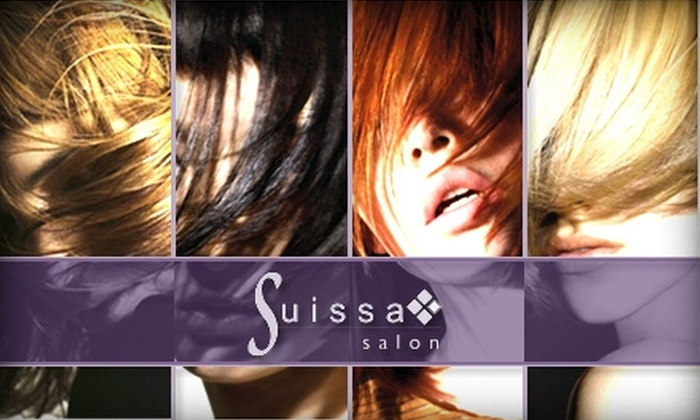 Suissa Salon - Tysons Corner: $45 for a Shampoo, Style, and Hair Coloring at Suissa Salon