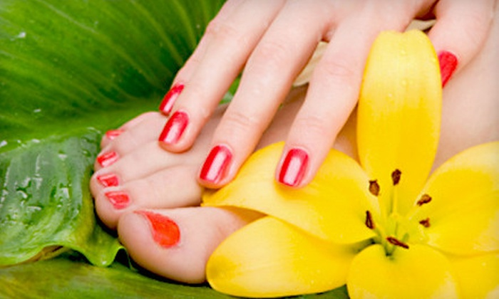 Gorgeous Nail Lounge & Demi-Spa - Leander: $35 for a Mani-Pedi Package with Callus Care and Massage at Gorgeous Nail Lounge & Demi-Spa in Leander ($72.50 Value)