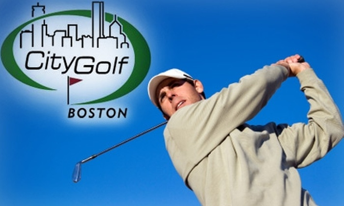 CityGolf Boston - Downtown: $45 for a Video Golf-Swing Analysis or 2.5 Hours in a Golf Simulator at CityGolf Boston (Up to a $125 Value)