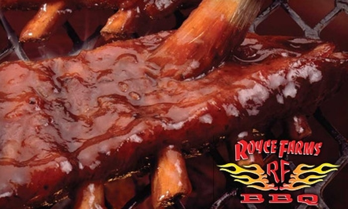 Royce Farms BBQ - Morada: $7 for $15 Worth of Slathered Meats, Sides, and Thirst Quenchers at Royce Farms BBQ