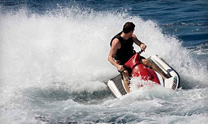 Clearwater Jet Ski & Parasail - Sand Key: Tandem-Kayak Rental for Up to Two or a Jet-Ski Rental for Up to Three from Clearwater Jet Ski & Parasail in Clearwater Beach