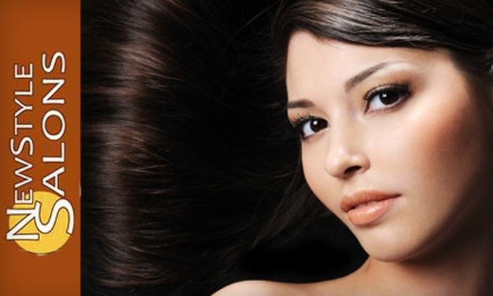 NewStyle Salons - Multiple Locations: $99 for Brazilian Blowout, Plus 20% Off Acai Maintenance Products, at NewStyle Salons