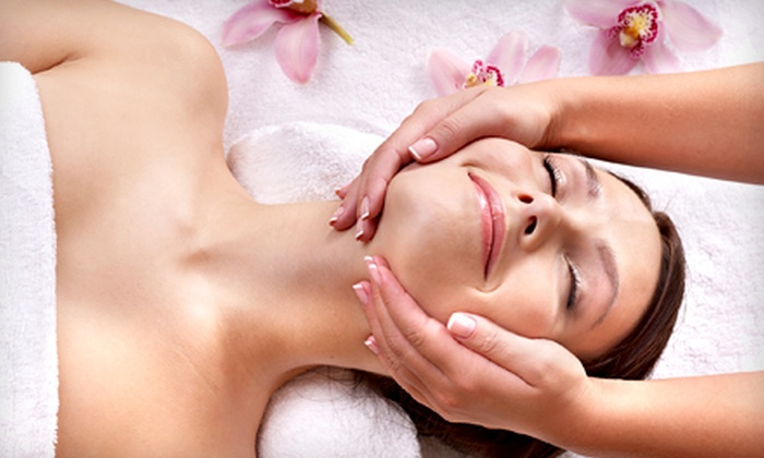 Abella Massage & Skin Care Studio - Centennial: $49 for a Cherry-Pomegranate Facial Package with Upper-Body Massage at Abella Massage & Skin Care Studio ($105 Value)