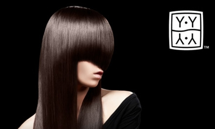 YY Salon - Carytown: $50 for $100 Worth of Salon Services, Plus an Eight-Ounce Bottle of Shampoo, from YY Salon (Up to $120 Value)