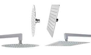Superslim Stainless Steel Shower Heads