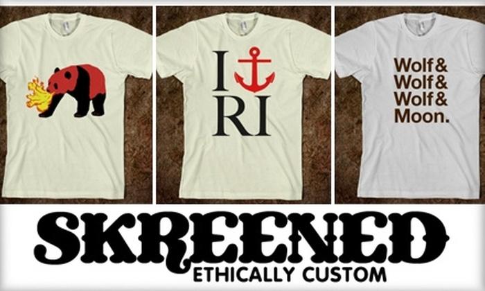 Skreened - Providence: $15 for $30 Worth of Online, Custom-Designed Clothing at Skreened