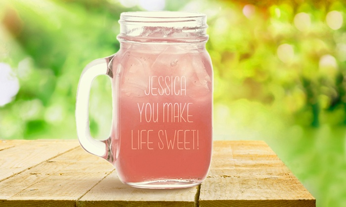Monogram Online: $5 for a Personalized Glass Jar from Monogram Online ($29.99 Value)