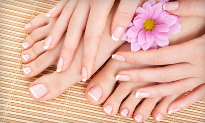 Lather Salon & Spa - Coeur d'Alene: Mani-Pedi from Nails by Stephanie at Lather Salon & Spa. Two Options Available.
