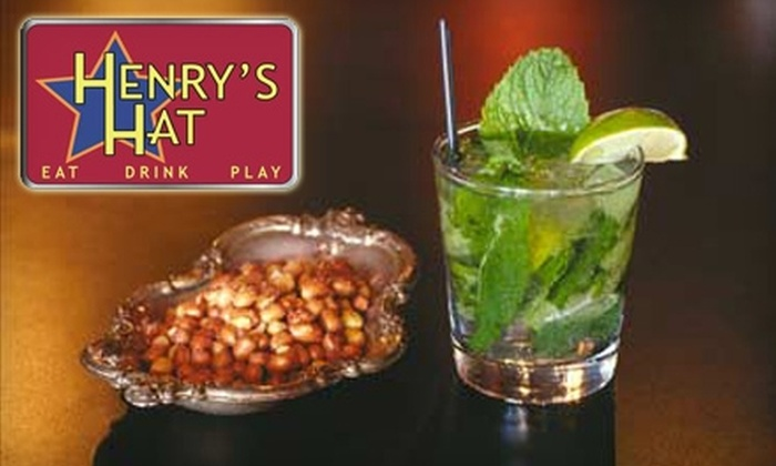 Henry's Hat - Hollywood Hills: $12 for $35 Worth of Food and Drink at Henry's Hat