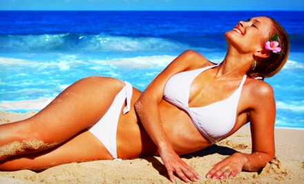 $25 for Two Mystic Spray Tans or One Month of Silver-Level UV Tanning at Sunbright Tanning Salon ($52 Value)