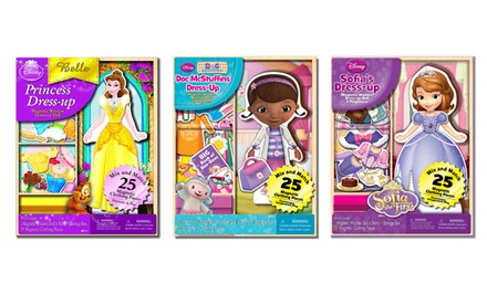 Disney Princess and Character 25-Piece Magnetic Wooden Doll Sets. Multiple Characters Available. Free Returns.