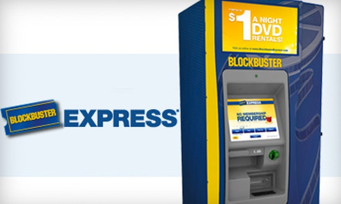 Blockbuster Express - Kenner: $2 for Five One-Night DVD Rentals from Any Blockbuster Express in the US ($5 Value)