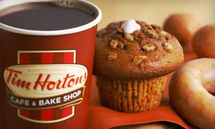 Tim Hortons - Multiple Locations: Coffeehouse Fare or Catering from Tim Hortons (Half Off)
