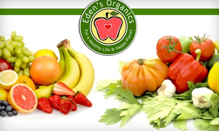 Eden's Organics - Seattle: Two-Week Supply of Organic Produce Delivery from Eden's Organics. Buy Here for the Regular Bin Size for $36 ($72 Value). Click Below for the Personal Bin Size.
