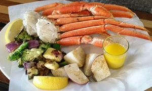 Fishbone Grill & Oyster Bar: $12 for $20 Worth of Seafood Platters and Burgers at Fishbone Grill & Oyster Bar