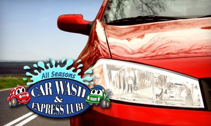 All Seasons Car Wash & Express Lube - Snellville: $35 for Three Gold Washes or a Diamond Wash with a Basic Oil Change at All Seasons Car Wash & Express Lube in Snellville (Up to $74.85 Value)
