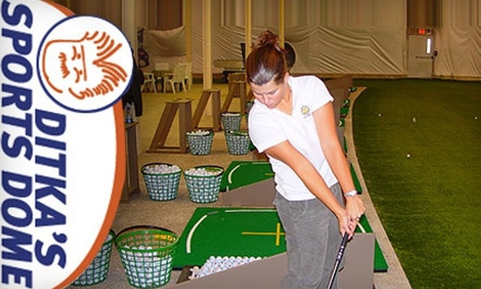 Ditka's Sports Dome - Bolingbrook: $13 for One Hour of Unlimited Driving-Range Use at Ditka's Sports Dome (Up to $26 Value) in Bolingbrook
