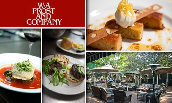 W.A. Frost and Company - Summit - University: $25 for $50 Worth of Seasonal Cuisine and Drinks at WA Frost and Company