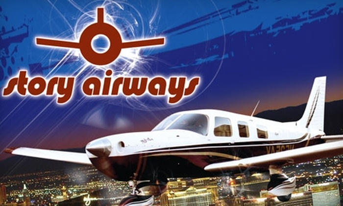 Story Airways - Henderson: $85 for a Night Flight over the Las Vegas Strip with Story Airways ($176 Value)
