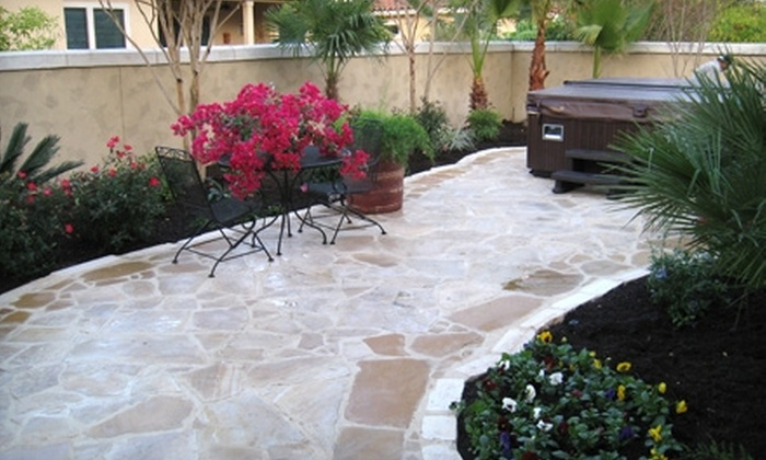 John's Landscaping - San Antonio: $2,995 for 20'x20' Mortared Flagstone Patio With Natural Texas-Blend Flagstone from John's Landscaping ($5,500 Value)