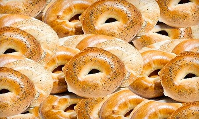 The Bagel Club - Auburndale: $10 for a Dozen Bagels, Cream Cheese, and More at The Bagel Club in Bayside