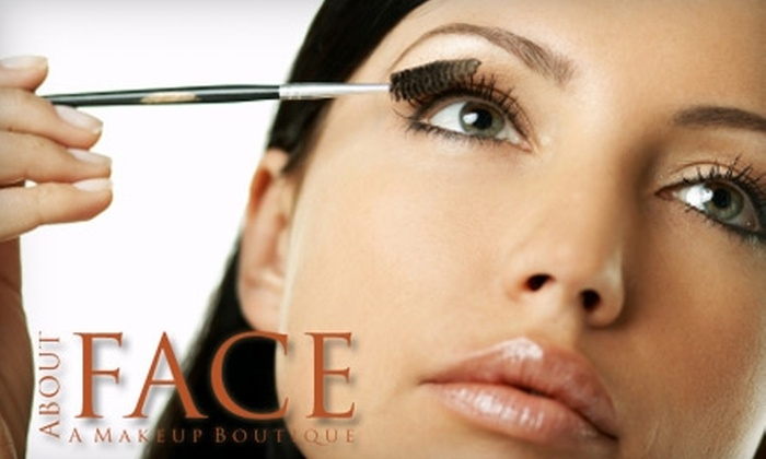About Face - Multiple Locations: $25 for $55 Worth of Makeup Services at About Face