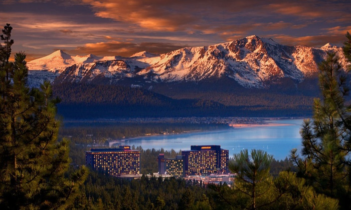 Harveys Lake Tahoe - South Lake Tahoe: Two- or Three-Night Stay for Two in a Mountain Tower Classic or Deluxe Room at Harveys Lake Tahoe