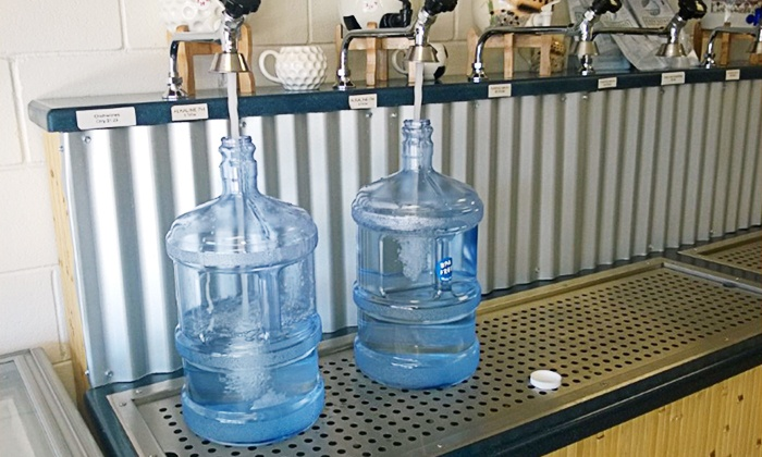 Water Shack - Water Shack: 20 or 40 Gallons of Alkaline Water or 5 Shave Ices at           Water Shack (Up to 50% Off)