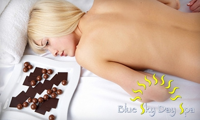 Blue Sky Day Spa - East Sacramento: $49 for a Chocolate-Mousse Body Wrap at Blue Sky Day Spa